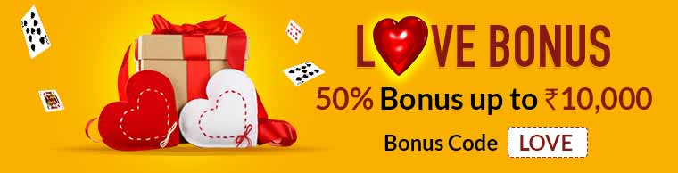 Love Bonus at Junglee Rummy