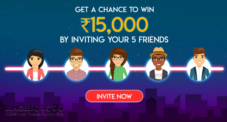Refer a Friend on Junglee Rummy